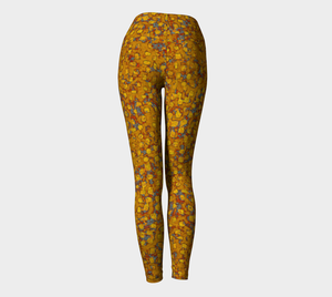 Yoga Leggings - Compression Fit - Mustard - Be Square