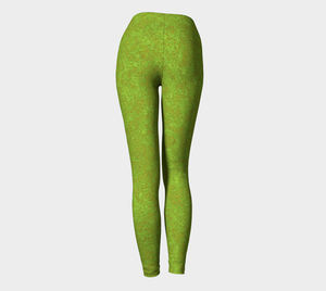 Yoga Leggings - Compression Fit - Green with Bronze - Zen
