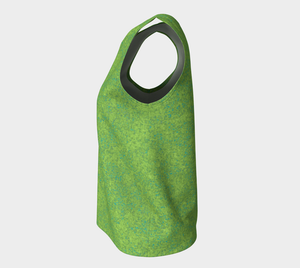 Loose Tank Top - Zen - Chartreuse with Teal