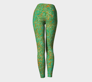 Yoga Leggings - Compression Fit - Green - Reef