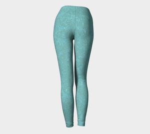 Yoga Leggings - Compression Fit - Smokey Teal - Zen