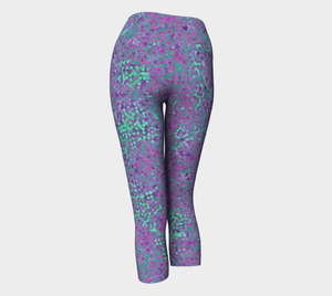 Yoga Capris - Compression Fit - Lavender - Reef