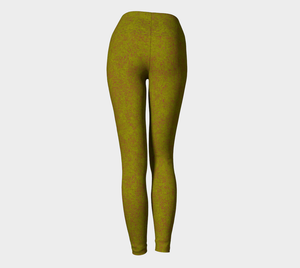 Yoga Leggings - Compression Fit - Olive - Zen