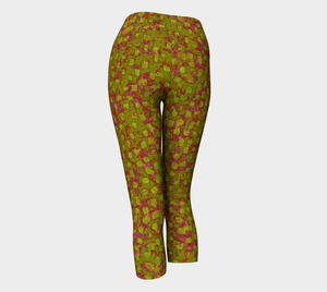 Yoga Capris - Compression Fit - Olive - Be Square