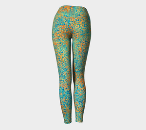 Yoga Leggings - Compression Fit - Turquoise - Sweet Pea