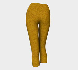 Yoga Capris - Compression Fit - Mustard - Zen