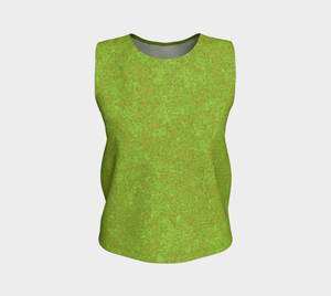Loose Tank Top - Zen - Chartreuse with Bronze