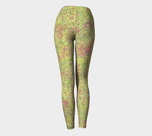 Yoga Leggings - Compression Fit - Green - Sweet Pea