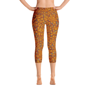 capri leggings - copper - be square style - back view - ColorUpLife