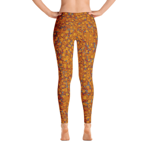 leggings - copper -be square style - back view – ColorUpLife