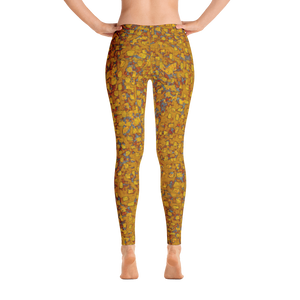 leggings - mustard - be square style - back view – ColorUpLife