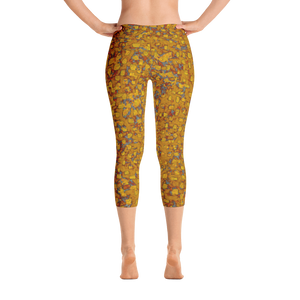 capri leggings - mustard - be square style - back view - ColorUpLife