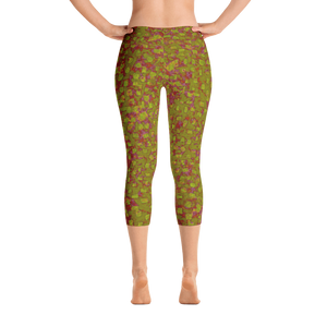 capri leggings - olive green - be square style - back view - ColorUpLife