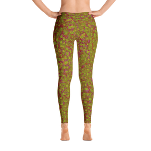 leggings - olive - Be Square style - back view – ColorUpLife