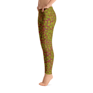 leggings - olive - Be Square style - side view – ColorUpLife