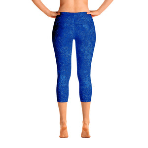 capri leggings - blue - reef style - back view - ColorUpLife