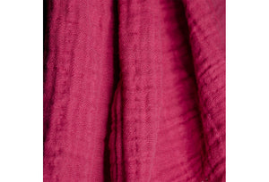 cotton double gauze scarf fabric swatch - deep fuchsia - ColorUpLife