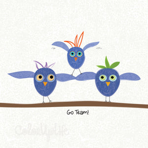 Go Team! - Blue/White