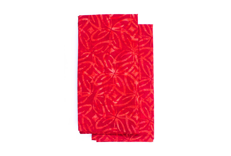 Cloth Napkins - Fantasia Red - Set of 2