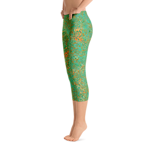 capri leggings - green - reef style - side view - ColorUpLife