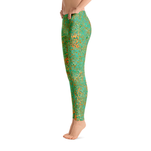 leggings - green - reef style - side view – ColorUpLife
