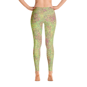 leggings - green - sweet pea style - back view – ColorUpLife