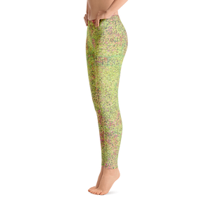 leggings - green - sweet pea style - side view – ColorUpLife