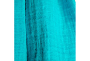 cotton double gauze scarf fabric swatch - turquoise - ColorUpLife