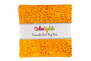 Batik Mug Mats - Yellow Dot