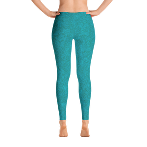 leggings - teal - zen style - back view – ColorUpLife