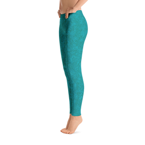 leggings - teal - zen style - side view – ColorUpLife