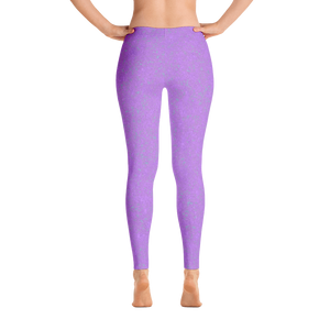 leggings - lavender - zen style - back view – ColorUpLife