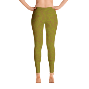 leggings - olive - zen style - back view – ColorUpLife