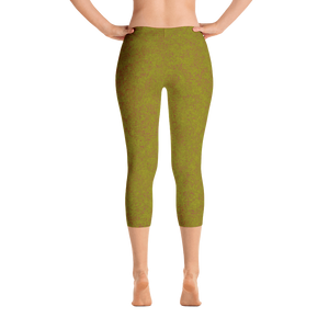 capri leggings - olive - zen style - back view - ColorUpLife