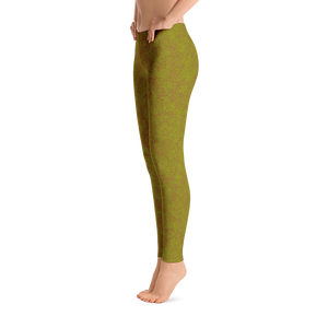 leggings - olive - zen style - side view – ColorUpLife