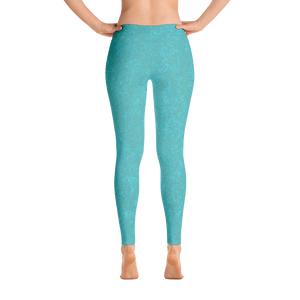 leggings - smoky teal - zen style - back view – ColorUpLife