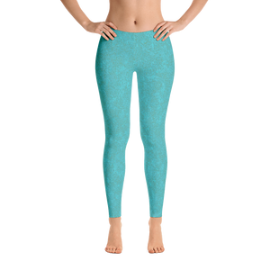 leggings - smoky teal - zen style - side view – ColorUpLife