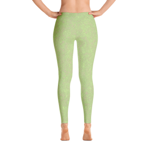 leggings - sweet green - zen style - back view – ColorUpLifes