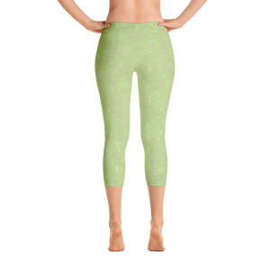 capri leggings - sweet green - zen style - back view - ColorUpLife
