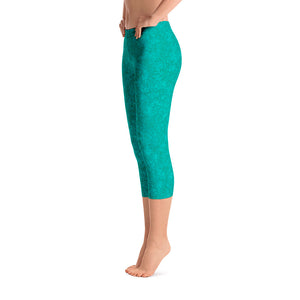 capri leggings - teal - zen style - side view - ColorUpLife
