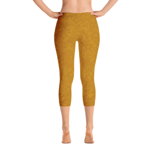 capri leggings - mustard - zen style - back view - ColorUpLife