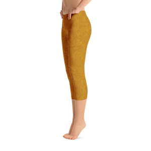 capri leggings - mustard - zen style - side view - ColorUpLife