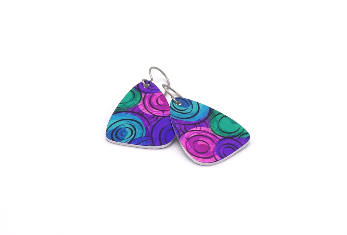 Purple Amelia Earrings by ColorUpLife