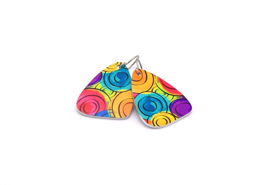Rainbow Amelia Earrings by ColorUpLife