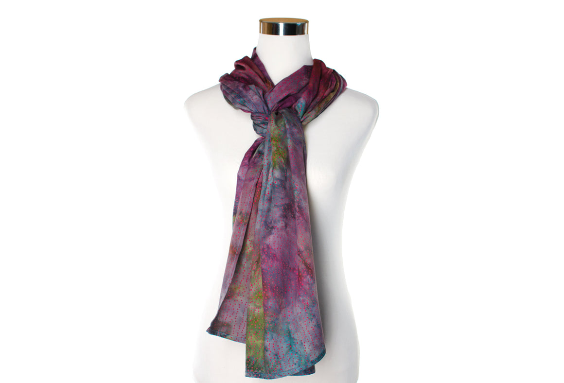 batik rayon scarf - arizona sky - ColorUpLife