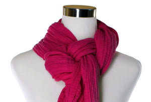 cotton double gauze scarf close-up - magenta - ColorUpLife