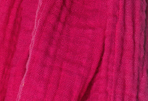 cotton double gauze scarf fabric swatch - magenta - ColorUpLife