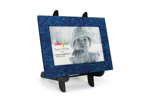 Blue Magnetic Picture Frame Displayed on a Decorative Easel by ColorUpLife