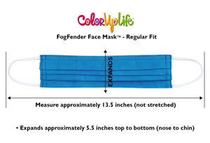 Regular Fit Hand-dyed FogFender Face Mask Dimensions by ColorUpLife