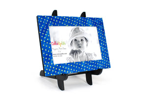 Party Blue Magnetic Picture Frame Displayed on a Decorative Easel by ColorUpLife